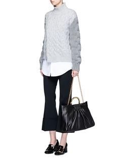 Stella McCartney'Nina' ruched alter nappa shoulder bag