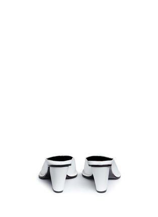 Back View - Click To Enlarge - Stella McCartney - V-throat faux leather mules