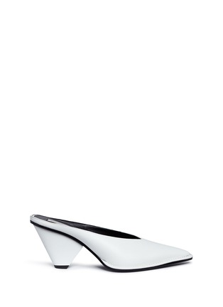 Main View - Click To Enlarge - Stella McCartney - V-throat faux leather mules