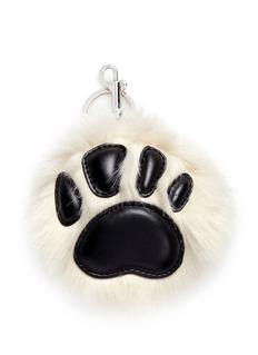 Stella McCartneyAlter fur trim faux leather paw keychain