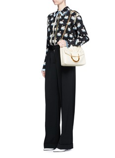 Stella McCartneyRuched front flap alter nappa shoulder bag