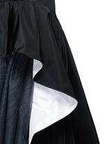 Tulle insert ruffle silk faille skirt