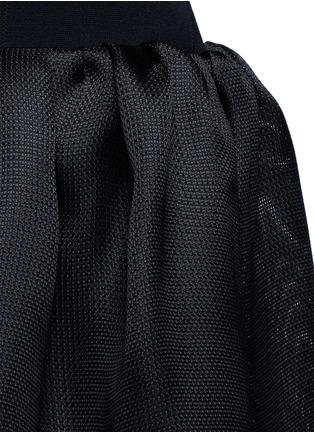 Detail View - Click To Enlarge - Oscar de la Renta - Strappy back Milano knit silk combo dress