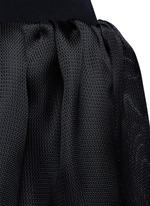 Strappy back Milano knit silk combo dress