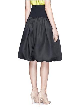 Back View - Click To Enlarge - Oscar de la Renta - Bell hem silk basketweave gazar skirt