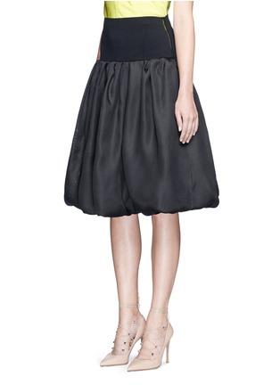 Oscar de la Renta-Bell hem silk basketweave gazar skirt