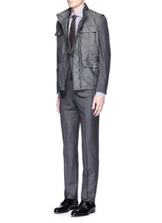 ISAIA'Milano' stripe cotton shirt