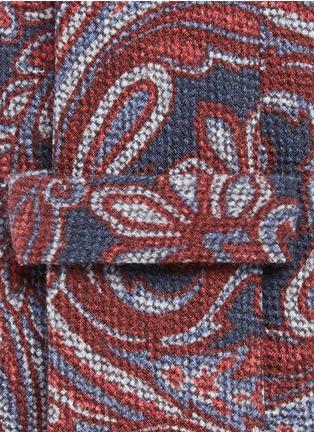 ISAIA-Paisley print wool-silk hopsack tie