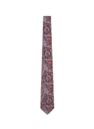 Main View - Click To Enlarge - ISAIA - Paisley print wool-silk hopsack tie
