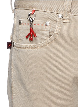 Detail View - Click To Enlarge - ISAIA - Cotton twill denim pants
