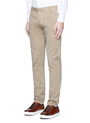 Front View - Click To Enlarge - ISAIA - Cotton twill denim pants