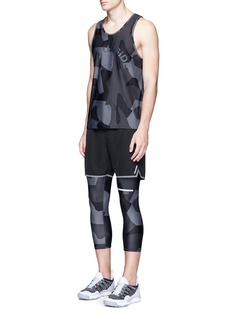 The Upside 'Geo Camo' print cropped performance tights