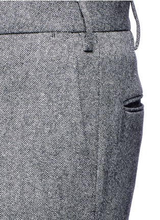Detail View - Click To Enlarge - Incotex - Slim fit wool hopsack pants