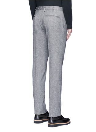 Back View - Click To Enlarge - Incotex - Slim fit wool hopsack pants