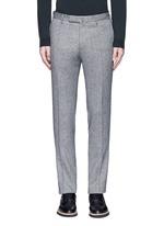 Slim fit wool hopsack pants