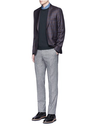 Figure View - Click To Enlarge - Incotex - Slim fit wool hopsack pants