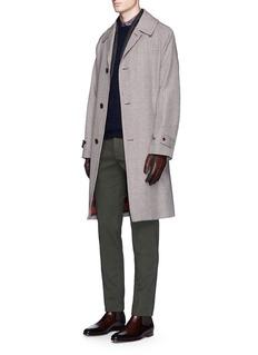Incotex'High Comfort' slim fit dot jacquard pants