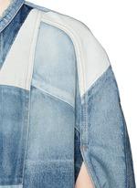 Vintage patchwork denim cape