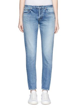 Detail View - Click To Enlarge - Saint Laurent - Original cut waistband boyfriend slim fit jeans