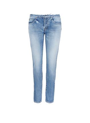 Main View - Click To Enlarge - Saint Laurent - Original cut waistband boyfriend slim fit jeans