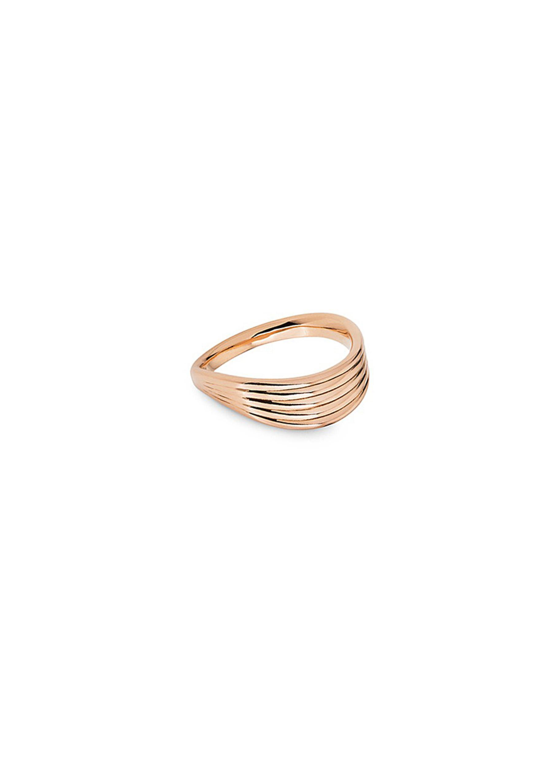 Stream Lines 18k rose gold ring by Fernando Jorge