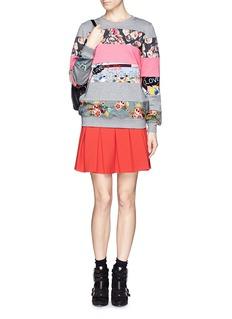 MARKUS LUPFERMix print patchwork sweatshirt