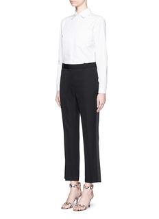 GIVENCHYSilk tuxedo stripe wool suiting pants