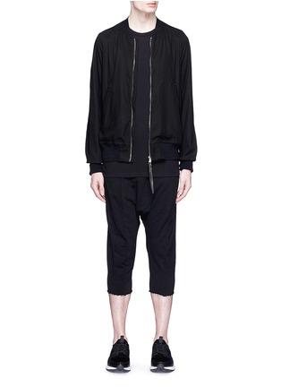 模特儿示范图 - 点击放大 - THE VIRIDI-ANNE - 单色纯棉夹克