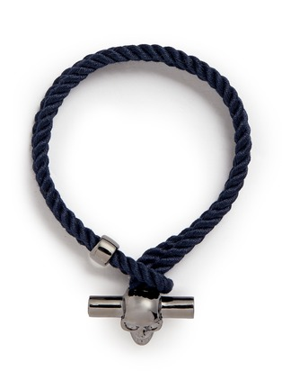 Main View - Click To Enlarge - Alexander McQueen - T-bar skull rope bracelet