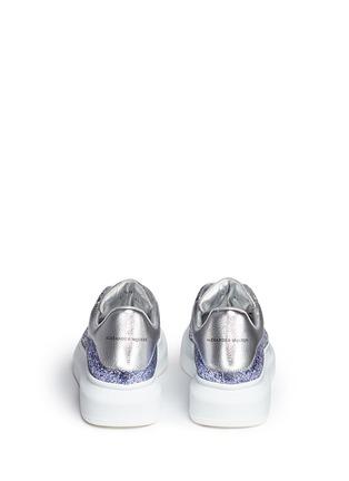 背面 - 点击放大 - ALEXANDER MCQUEEN - 亮片拼色真皮厚底球鞋