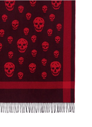Detail View - Click To Enlarge - Alexander McQueen - Classic skull wool-cashmere blanket