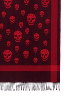 Classic skull wool-cashmere blanket