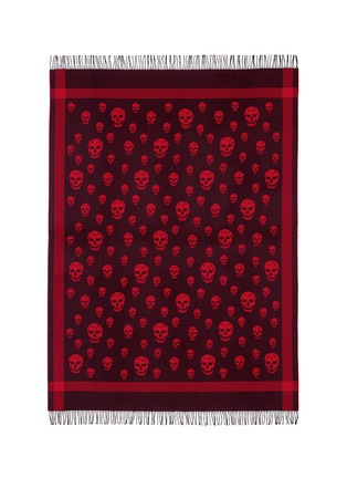 Main View - Click To Enlarge - Alexander McQueen - Classic skull wool-cashmere blanket