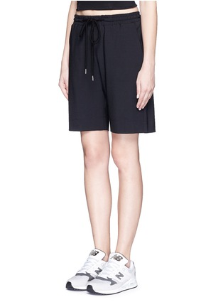 Front View - Click To Enlarge - MARKUS LUPFER - 'Belle' stretch crepe shorts