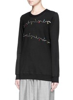 'Fairy Lights' sequin Anna sweatshirt