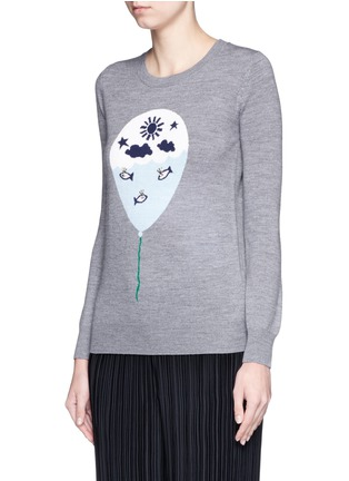 Front View - Click To Enlarge - MARKUS LUPFER - 'Balloon Sailor' bead embellished Emma sweater