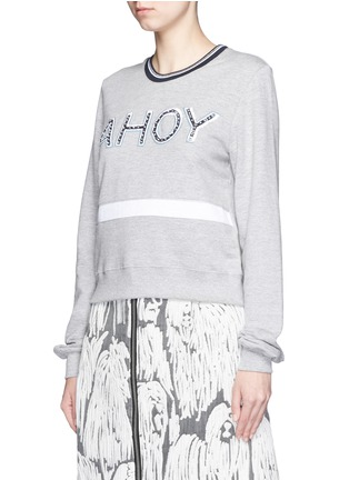 Front View - Click To Enlarge - MARKUS LUPFER - 'AHOY' sequin Katie sweatshirt