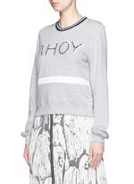 'AHOY' sequin Katie sweatshirt