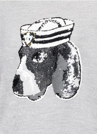 Detail View - Click To Enlarge - MARKUS LUPFER - 'Sailor Dog' sequin Joey sweater