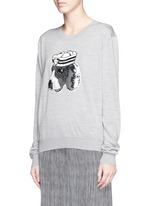 'Sailor Dog' sequin Joey sweater