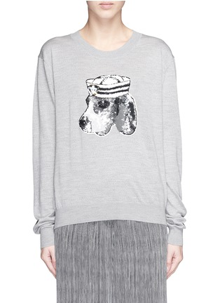 Main View - Click To Enlarge - MARKUS LUPFER - 'Sailor Dog' sequin Joey sweater