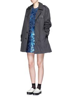 MARKUS LUPFER'Treasure Stencil Foil' print Millie sweatshirt dress