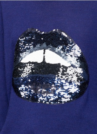 Detail View - Click To Enlarge - MARKUS LUPFER - 'Lara Lip' sequin Joey sweater