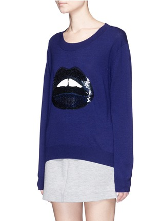 Front View - Click To Enlarge - MARKUS LUPFER - 'Lara Lip' sequin Joey sweater