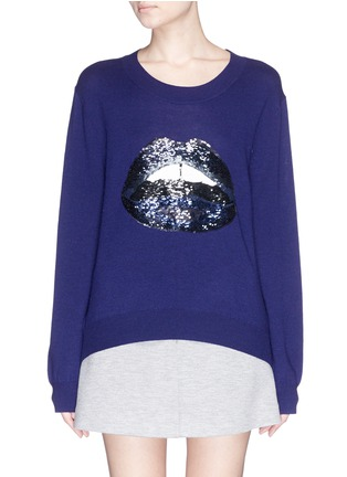 Main View - Click To Enlarge - MARKUS LUPFER - 'Lara Lip' sequin Joey sweater