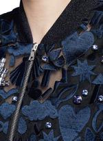 'Stencil Cut' embellished Charlotte bomber jacket