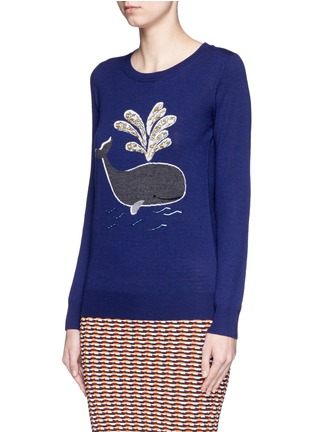 Front View - Click To Enlarge - MARKUS LUPFER - 'Whale' bead embellished Emma sweater