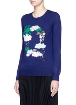 'Weather Cycle' embellished Emma sweater