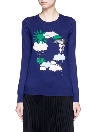 Main View - Click To Enlarge - MARKUS LUPFER - 'Weather Cycle' embellished Emma sweater