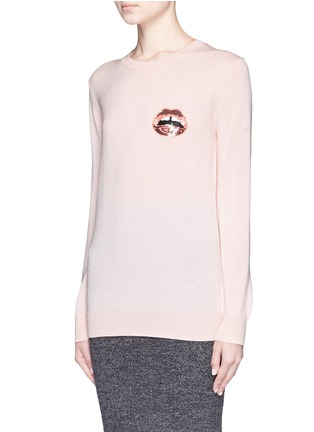 Front View - Click To Enlarge - MARKUS LUPFER - 'Mini Lara Lip' sequin Natalie sweater